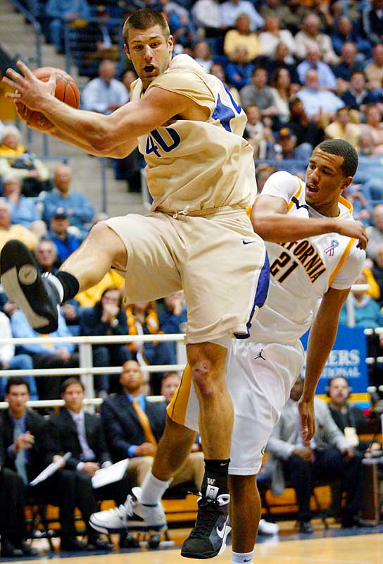 Washington claimed the top spot in the Pac-10 with a win over Oregon State last Friday -- a spot UCLA will fight to get back.  Jon Brockman, pictured, is averaging a double-double.