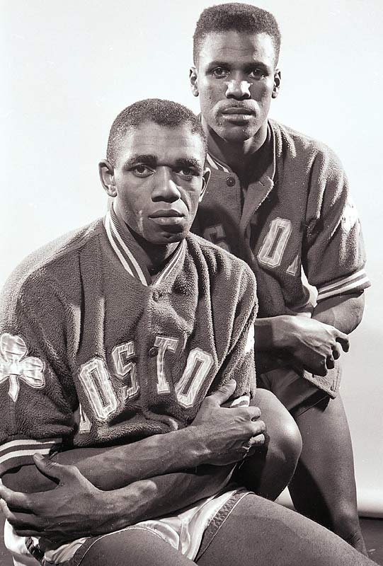 Sam Jones (bottom) and K.C. Jones started out as backups for Bob Cousy and Bill Sharman, but soon were vital parts of the rotation. K.C. won eight championships as a Celtic while Sam won 10.