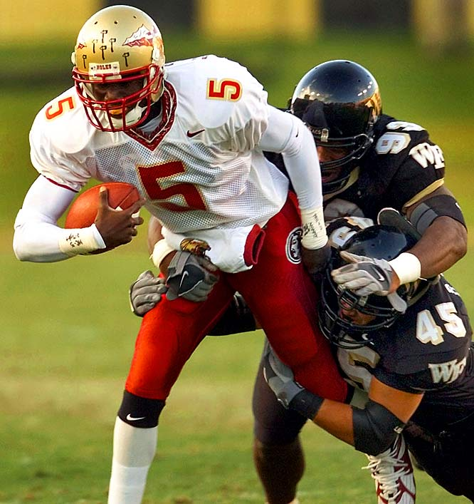 One of the most disappointing classes in Bobby Bowden's tenure at Florida State, the '01 group was hampered by inconsistency and ultimately derailed by highly-touted QB Adrian McPherson's (pictured) legal troubles. It posted a 2-3 record in bowl games, winning the Gator Bowl twice, but never finished better than No. 11 in the final AP ranking.