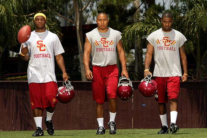 With an already full backfield, USC got even deeper in '06, landing running backs Stafon Johnson, Emmanuel Moody and C.J. Gable (pictured left to right), three of the top10 backs in the class. Moody transferred to Florida, but Southern Cal's third straight No. 1 class has gone 34-5 so far and has already notched three Rose Bowl victories.