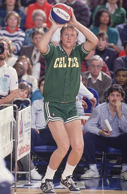 In a special two-hour ceremony celebrating his storied playing career, Larry Bird's No. 33 jersey is retired at a sold-out Boston Garden.