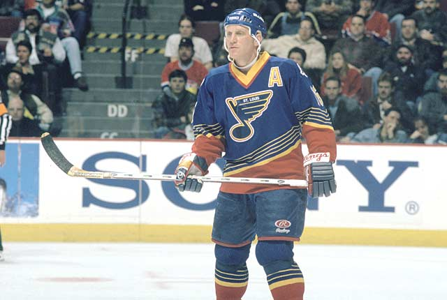 In a 6-4 victory over Toronto, St. Louis' Brett Hull (St. Louis Blues) scores and reaches the 50-goal plateau for the season. The milestone makes Brett, and his father Bobby, the only father-son combination in NHL history to score 50 goals in a season.
