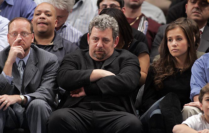 Knicks owner James Dolan looks less than pleased with the play of his squad.
