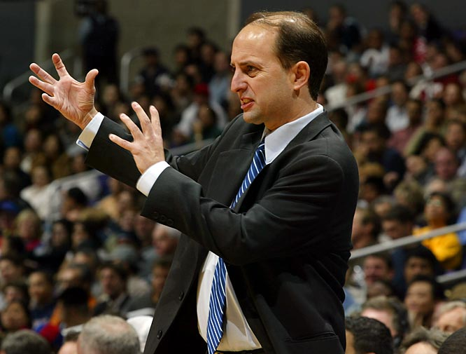 Jeff Van Gundy tries to keep his composure on the sidelines.