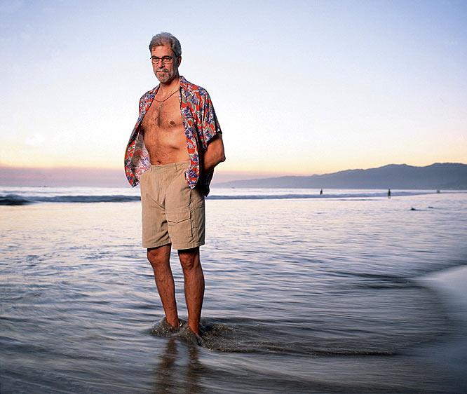Big Chief Triangle himself, Phil Jackson, unwinds on the beach.