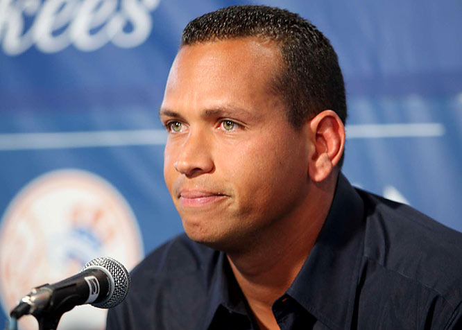 "Upon reporting to New York Yankees camp on Tuesday, Feb. 17, Alex Rodriguez addressed his positiive steroids test in 2003 to about 200 members of the media.<br><br>""I'm a little nervous. Or a lot nervous, so bear with me."""