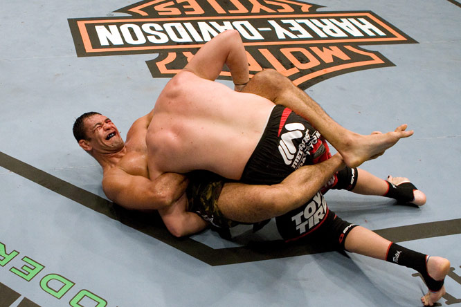 Antonio Rodrigo Nogueira (bottom) is one of the most experienced fighters in the game, having trained in judo since age 4 and jiu-jitsu since 18.