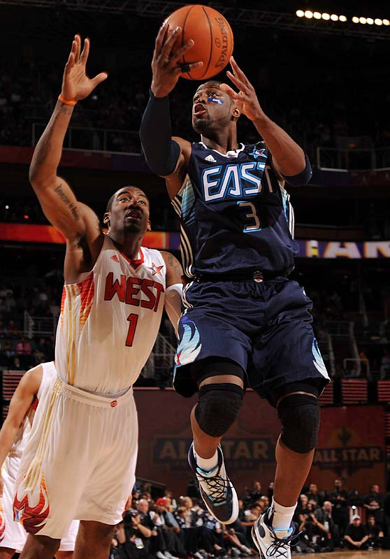 Dwyane Wade scored 18 points in 27 minutes for the East.