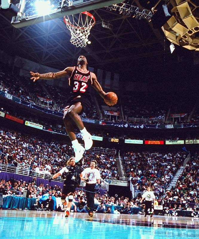 """Baby Jordan"" easily topped Clarence Weatherspoon and defending champion Cedric Ceballos in what he described as the highlight of a difficult rookie season with the Heat."