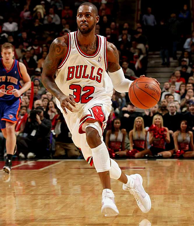 The 11th-year shooting guard has made it clear that he wants more minutes in Chicago's crowded backcourt or a trade. The latter would be more likely if Hughes weren't a career 40 percent shooter whose best season came five years ago. Hughes is scheduled to make $13.65 million next season in the final year of his contract.
