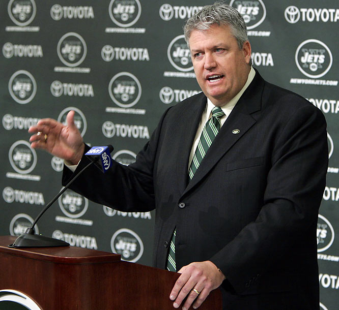 After firing Eric Mangini immediately following the season, the Jets waited until after the Ravens were eliminated in the AFC championship game to pluck defensive coordinator Ryan to fill their position. Ryan is the son of Buddy Ryan, who served on the Jets staff from 1968 to `75.