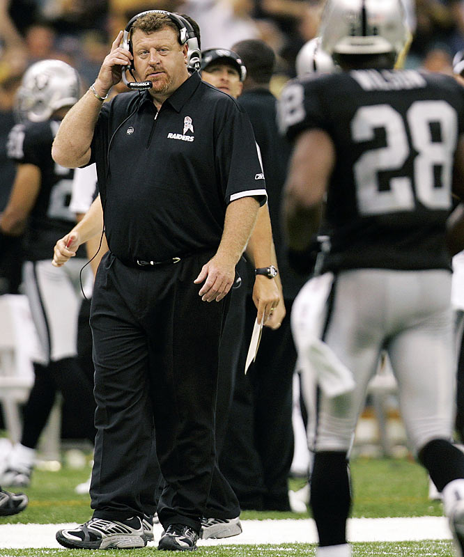 Cable, then the offensive line coach, was Oakland's interim choice to replace Lane Kiffin, who was fired in the middle of the 2008 season. After the team showed improvement and won its final two games to close out the season, the Raiders lifted the interim tag from Cable's title.