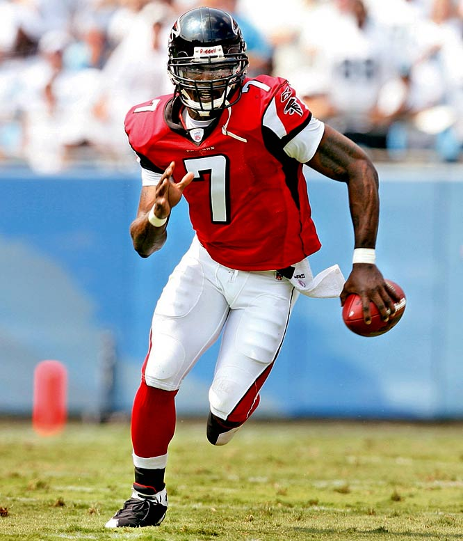 A three-time Pro Bowl selectee, Michael Vick, 28, hasn't played in an NFL game since 2006. He's scheduled to be released from federal custody in July, and the Falcons will either try to trade him or they'll cut him. His name has popped up in rumors involving the 49ers, Vikings, Raiders and Cowboys, to name a few.