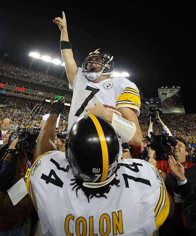 Big Ben played a lot better in his second Super Bowl than in his first. He became the second youngest quarterback to win two title games while coach Mike Tomlin became the youngest coach to win a Super Bowl.