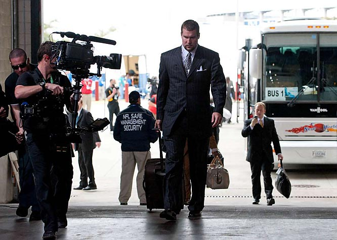 Ben Roethlisberger has his game face on as he heads to the locker room.