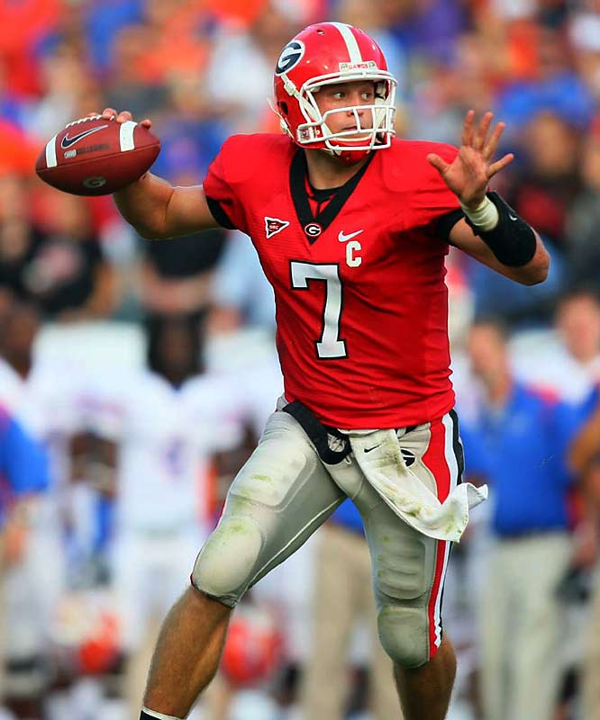 The Bulldogs gunslinger is the perfect passer for any vertical offense; he does the little things well. Stafford set the Georgia school record for total offense in a season with 3,499 yards last season.