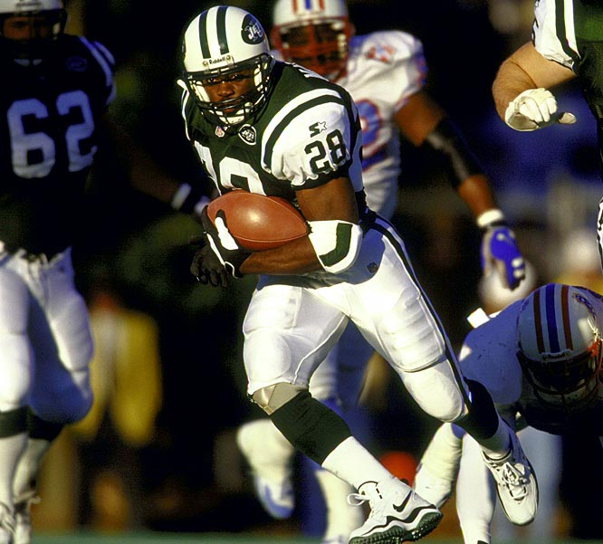 He was a restricted free agent when the Jets signed him in 1998, so they had to give up a first- and third-round pick to the Patriots. At the time, coach Bill Parcells said there was no player he could pick at No. 18 in the first round that would match Martin, and he was right. Martin rushed for over 1,000 yards every year from 1998 through 2004.