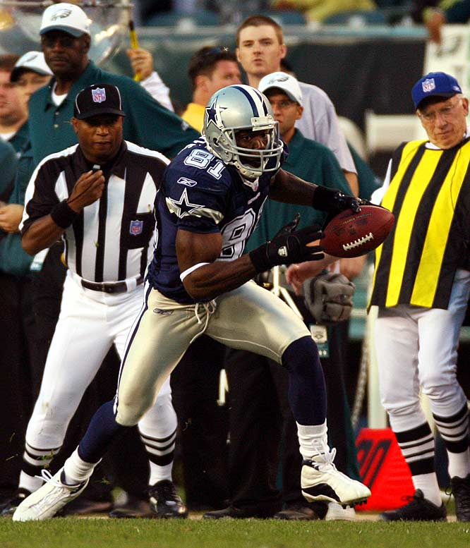 Few free-agent acquisitions have stirred up more hubbub than the Cowboys' signing of T.O.  But despite the media frenzy, T.O.'s contributions to the Cowboys have been unquestionable. In 2006 and 2007, he snagged 13 and 15 touchdown catches, respectively, while leading the Cowboys to consecutive playoff berths.