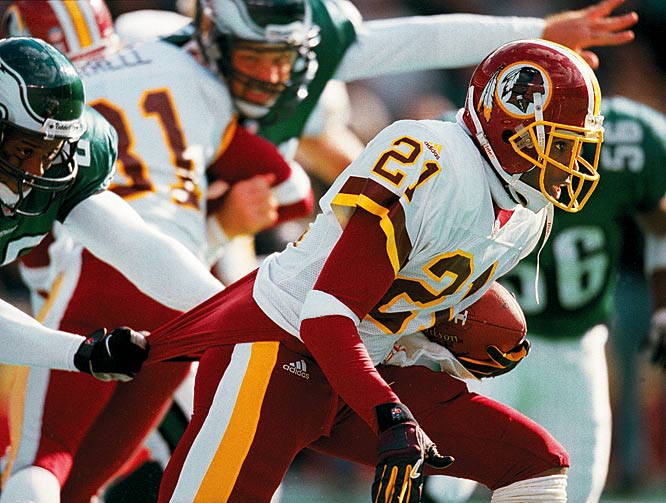 Sanders did not play poorly in his one and only season for Washington, but the Redskins grossly overpaid for the aged cornerback. Owner Dan Snyder gave Sanders an eight year, $56 million deal -- with an $8 million signing bonus -- but he was not the same player who had made eight out of the previous nine Pro Bowls.