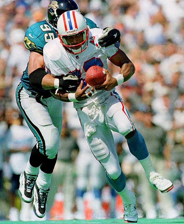 The Oilers signed Thigpen to a five-year, $21 million deal, hoping he could make big plays for young quarterback Steve McNair. Thigpen proved to be well past his prime.  In three years with Tennessee, he hauled in an average of 30.3 passes per year with only nine touchdowns. He retired after the 2000 season.