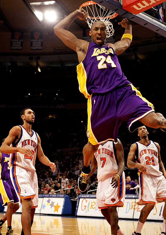 Kobe Bryant may not end up winning as many championships or individual honors as Michael Jordan did, but Bryant might just be remembered as the most skilled player the game has ever seen. His 61-point performance against the Knicks was not only breathtaking, but also the most points ever scored at Madison Square Garden, which has seen some pretty decent players in its day. Add his 81-point outburst a couple years ago in Los Angeles and it's hard to argue that Bryant isn't at least in the conversation for greatest player of all-time.