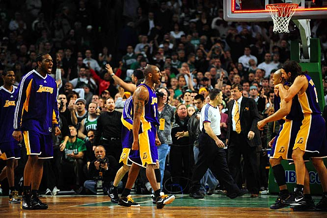 Andrew who? The Lakers are not only undefeated since losing their star center, but also Kobe Bryant went for a record 61 points at the Garden and the Lakers halted winning streaks by both the Celtics and Cavaliers. There's no truth to the rumor that the Lakers will stage an injury on each of their subsequent road trips to yield similar results.