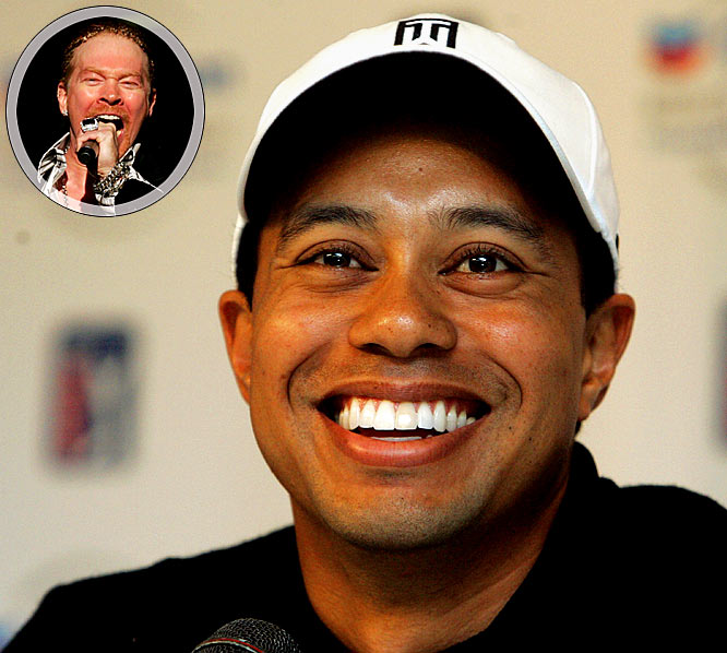 Well, at least Woods has something to keep him busy as he prepares to return to the links. He and his wife, Elin, announced the birth of their second child, a boy named Charlie Axel. Who knew Woods was such a big Guns N' Roses fan?