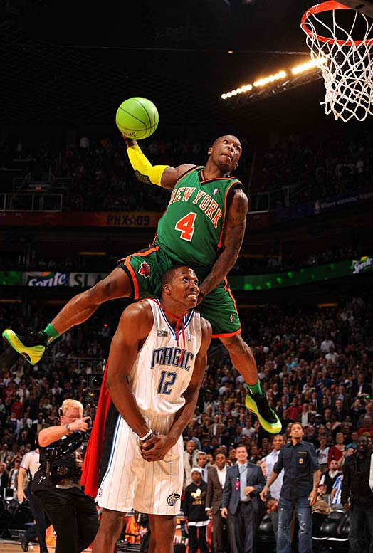 "The Slam Dunk Contest is officially relevant again thanks to Nate ""Krypto-Nate"" Robinson and Dwight ""Superman"" Howard, who have the best All-Star Saturday Night rivalry since Michael Jordan and Dominique Wilkins. To make things more interesting next year at All-Star Saturday night at Dallas Cowboys Stadium, where Mark Cuban estimates 100,000 will be in attendance, LeBron James will enter the dunk contest."
