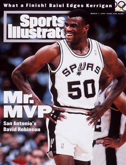 San Antonio's David Robinson records the fourth quadruple-double in NBA history with 34 points, 10 rebounds, 10 assists and 10 blocks in the Spurs' 115-96 win over visiting Detroit. The three other quadruple-doubles in NBA history were compiled by Hakeem Olajuwon (3/29/90), Alvin Robertson (2/18/86) and Nate Thurmond (10/18/74).