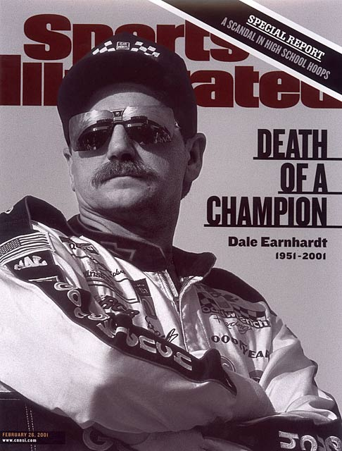 NASCAR driver Dale Earnhardt, Sr. is killed in a crash during the Daytona 500 race.