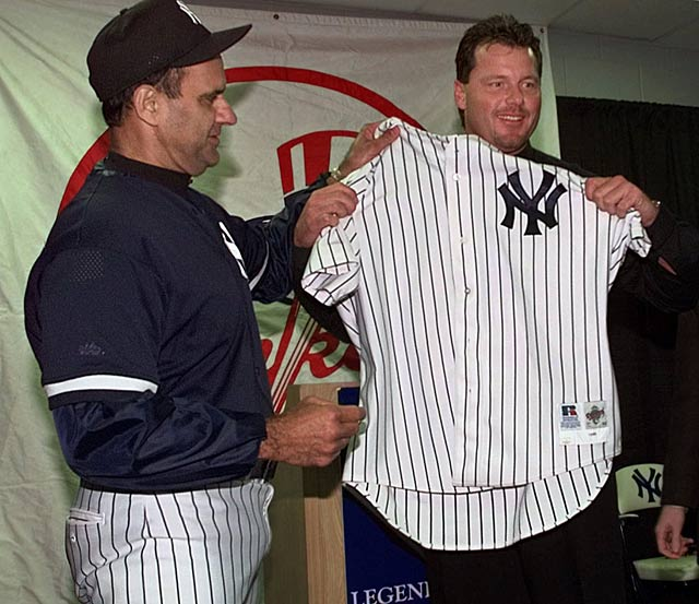 The Blue Jays trade Roger Clemens to the Yankees in exchange for David Wells, Graeme Lloyd, and Homer Bush.