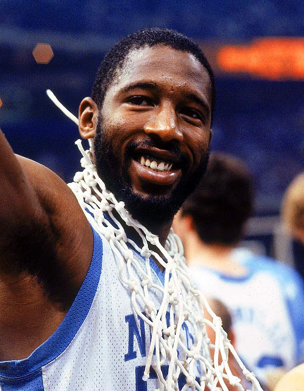 North Carolina forward James Worthy celebrates after the Tar Heels won the national championship.