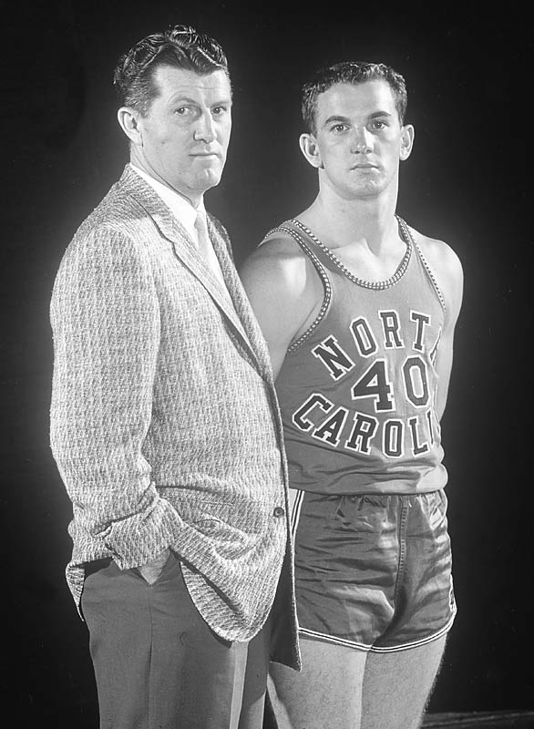 Frank McGuire poses with point guard Tommy Kearns.