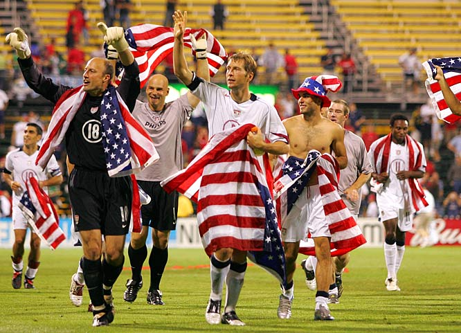 For both teams, the goal was simple: Win and qualify for the 2006 World Cup. The U.S. again chose Columbus Crew Stadium to host the crucial tilt, and again the friendly confines paid off. Eddie Lewis opened up the scoring for the Americans in the 53rd minute, then DaMarcus Beasley slotted one past Oswaldo Sánchez minutes later. The win earned the U.S. a trip to Germany at the expense of their archrivals.