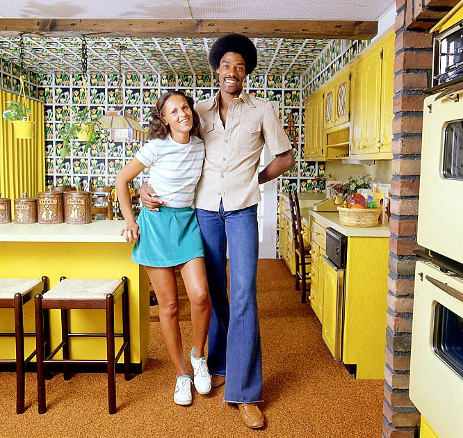 Julius Erving with wife, Turquoise, at their home in Babylon, N.Y.