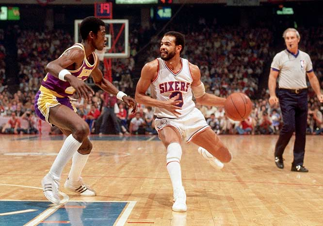 Former guard and current Memphis coach Lionel Hollins during the 1980 Finals.