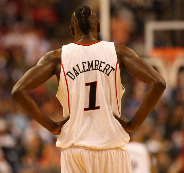 Samuel Dalembert sports an interesting hairstyle for the 2008 Playoffs.