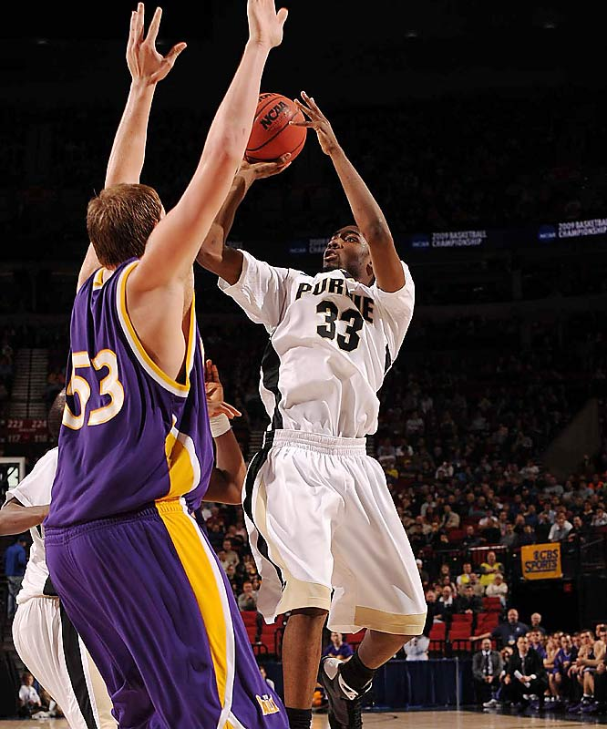 E'Twaun Moore scored 17 points to help fifth-seeded Purdue get past 12th-seeded Northern Iowa.