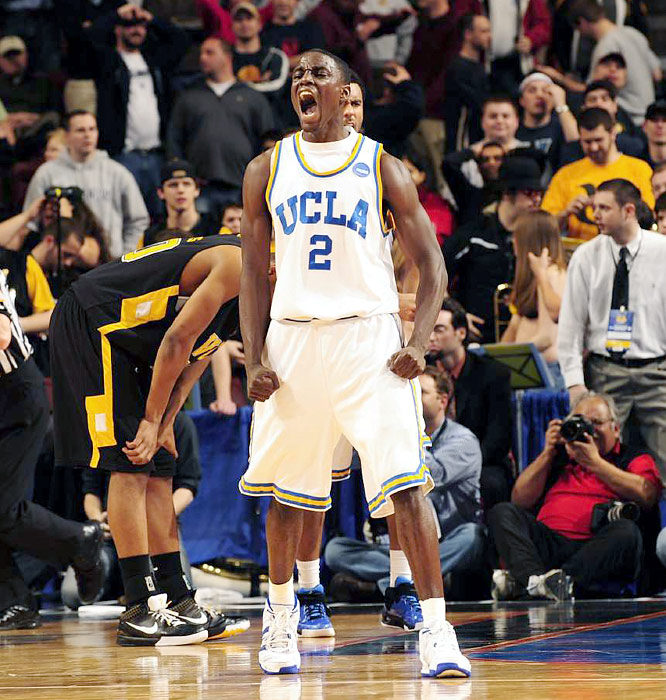 Darren Collison refused to yield in the final seconds, pressuring VCU's Eric Maynor into missing a 17-footer at the buzzer to give UCLA a one-point victory.