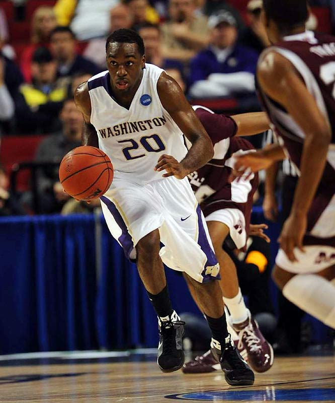 Quincy Pondexter and the Washington Huskies didn't go out early thanks to his season-high 23 points.