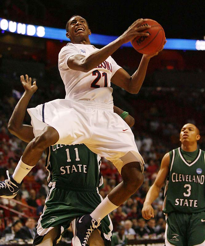 Arizona, a 12 seed, advanced by beating upstart Cleveland State.
