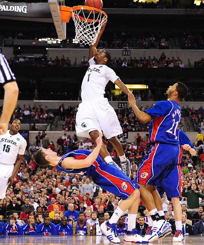 Kalin Lucas had 18 points, and the Spartans advance to play Louisville on Sunday for a trip to the Final Four.