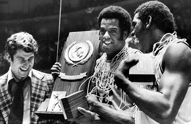 Quinn Buckner, Bobby Wilkerson, Tom Abernathy, Scott May and man in the middle Kent Benson spirited the Hoosiers to a national championship -- and became the last team to go through the entire regular season and NCAA tournament without a loss.