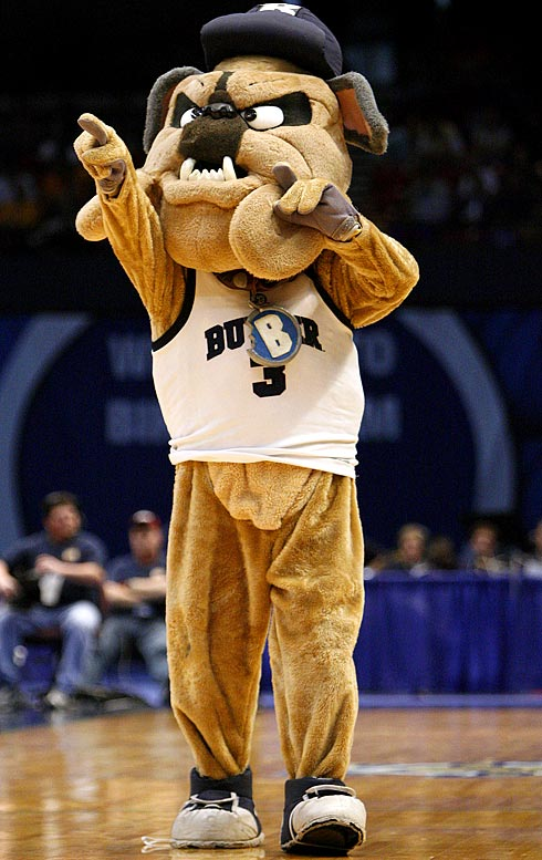 Girls, get yer ''B'' necklace! <br>''B'' for Butler Bulldog Boyfriend.