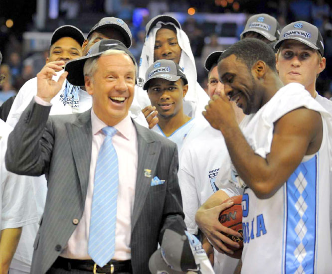 Ty Lawson (right) led the Heels with 19 points to help Roy Williams reach the Final Four for the second straight season.
