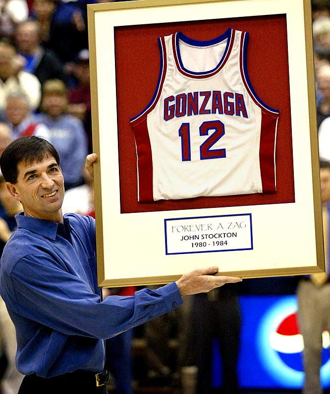 In February 2004, Gonzaga retired Stockton's jersey. No player had worn No. 12 since he left in 1984.