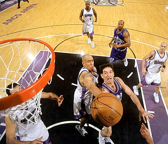 Stockton played his last game on April 30, 2003, finishing with eight points and seven assists in a series-clinching loss to the Kings in the first round of the playoffs. He retired two days later.