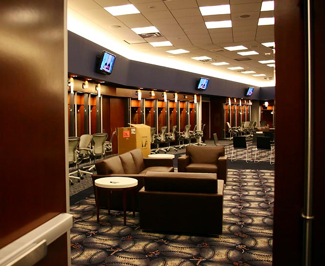 Inside the clubhouse.