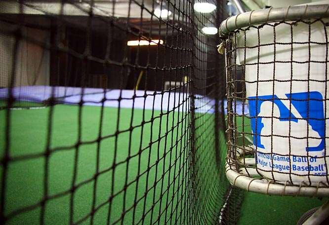 The batting cages.