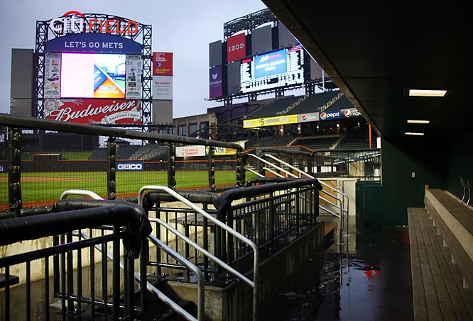 The home dugout from the first base side.